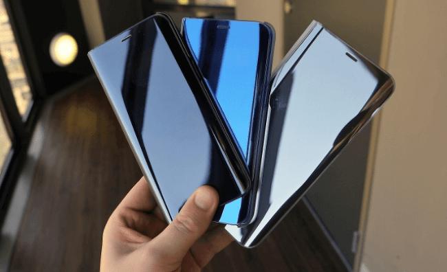 갤럭시S9, 삼성 정품 케이스 유출. 지문 인식 센서가 돋보인다.