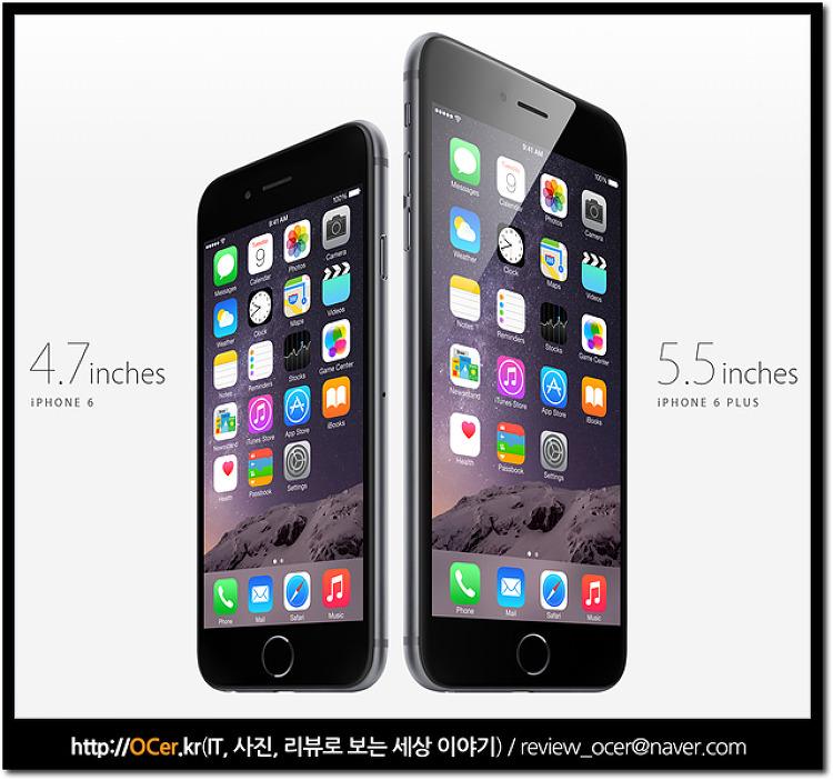 아이폰6, 플러스 살펴보니 아이폰5s 에서 많은 변화가