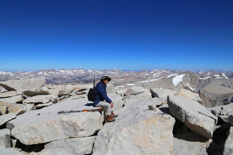 휘트니와 존뮤어트레일 3일차, 미본토 최고봉 해발 4,421m의 휘트니산(Mount Whitney)에 오르다!