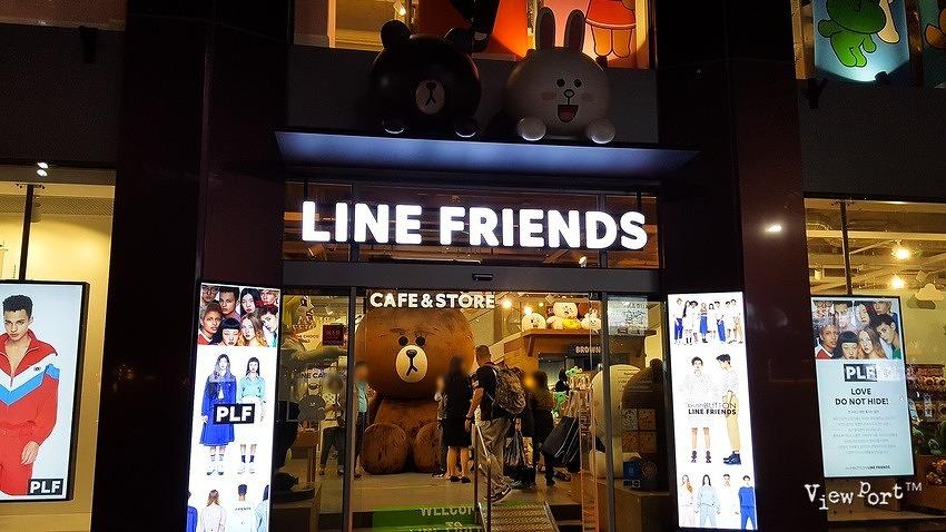 너무나 귀여운 캐릭터 샵 이태원 라인프렌즈 스토어(Line Friends)