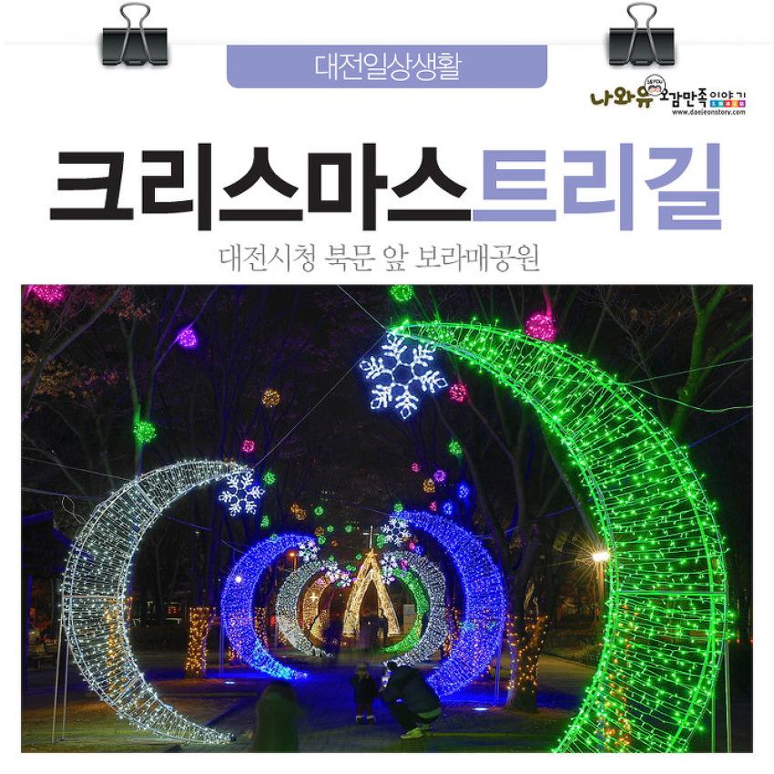 대전데이트코스 크리스마스트리길! 대전시청북문 앞 보..