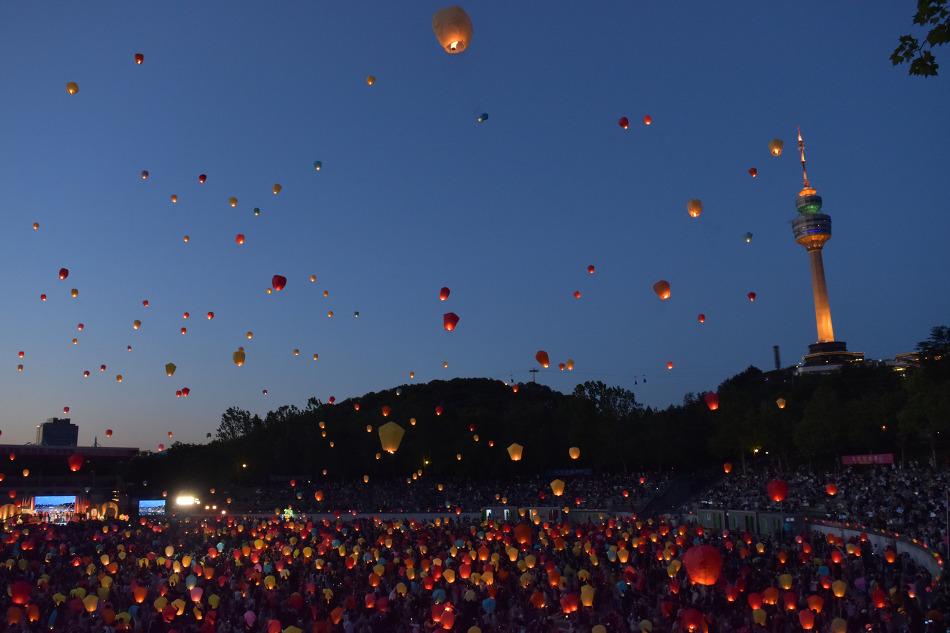 대구 달구벌 관등놀이 (대구 풍등축제) 생생한 후기 & 예쁜 사진들