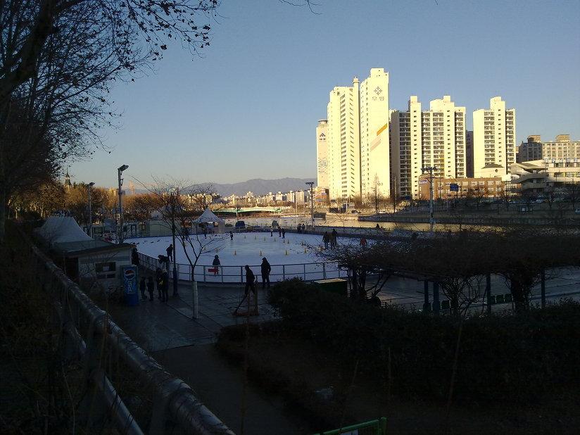대구 신천둔치 야외 스케이트장