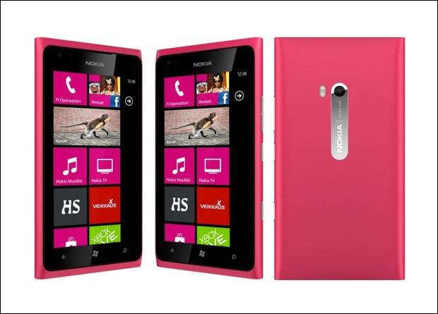 노키아 루미아900 핑크