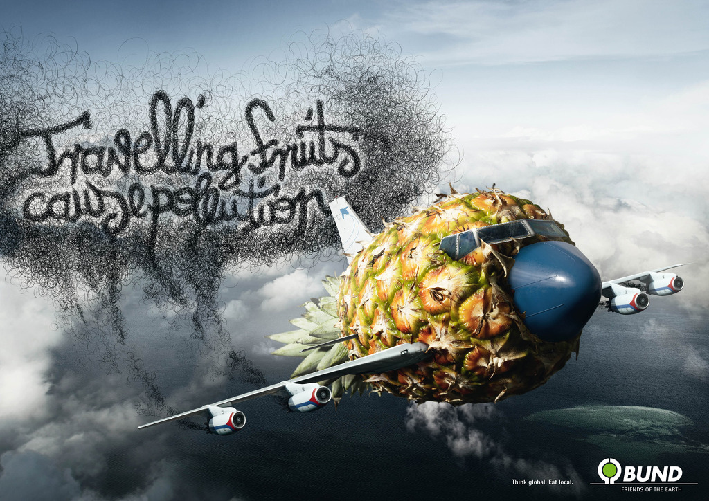 "BUND, Friends of the Earth: ""Travelling Fruits cause pollution"" (2008)"