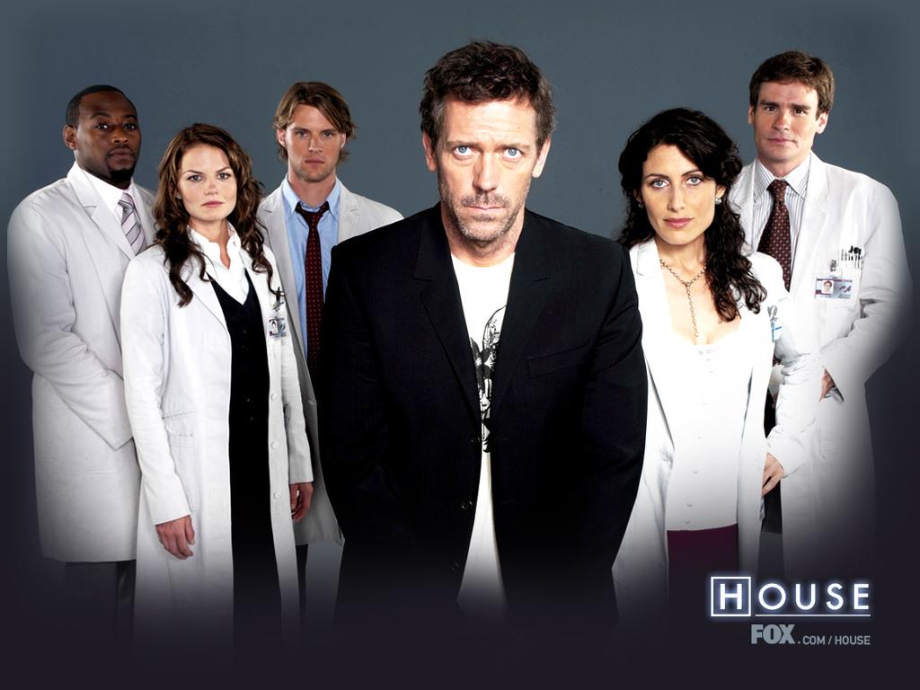 미드 House 출연진 왼쪽부터 포어맨, 캐머론, 체이스, 하우스, 커디, 윌슨