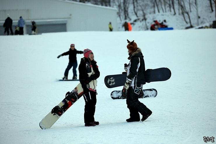 스키장 웃음