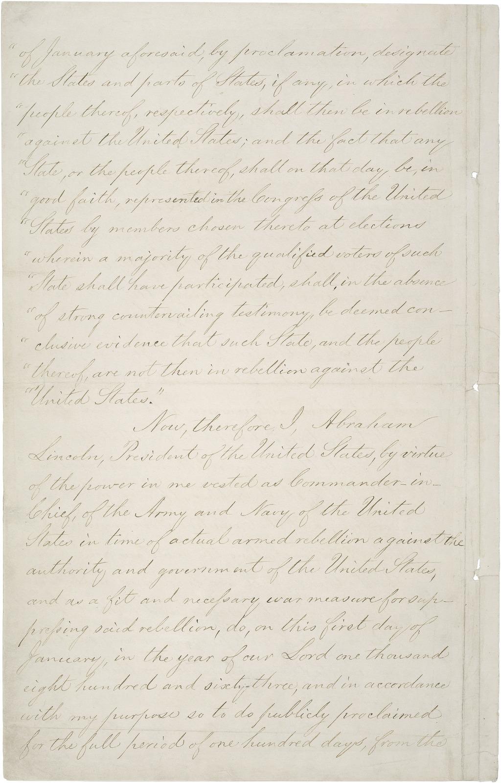 미국 노예해방 선언문 원본 스캔 파일