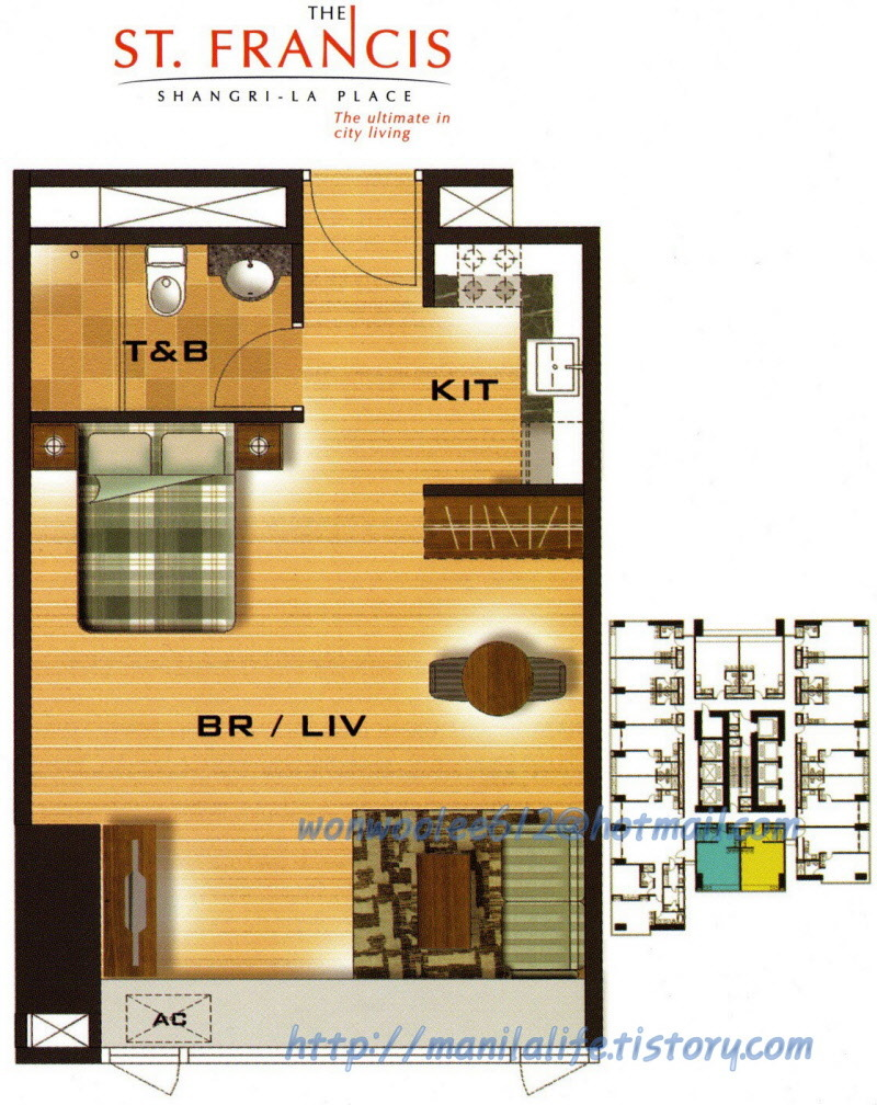 Shangri La ST Francis Tower Floor Plan And Unit Layout