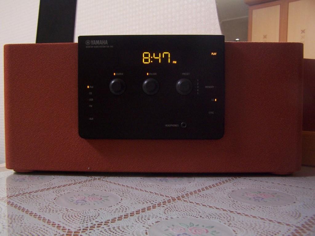 yamaha ipod iphone desktop audio system tsx 140. Black Bedroom Furniture Sets. Home Design Ideas