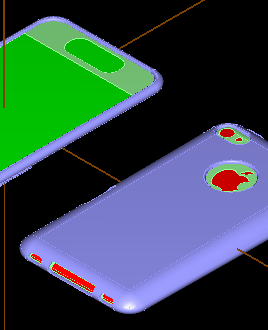 iPhone 5 CAD Drawing - Wider Home Button