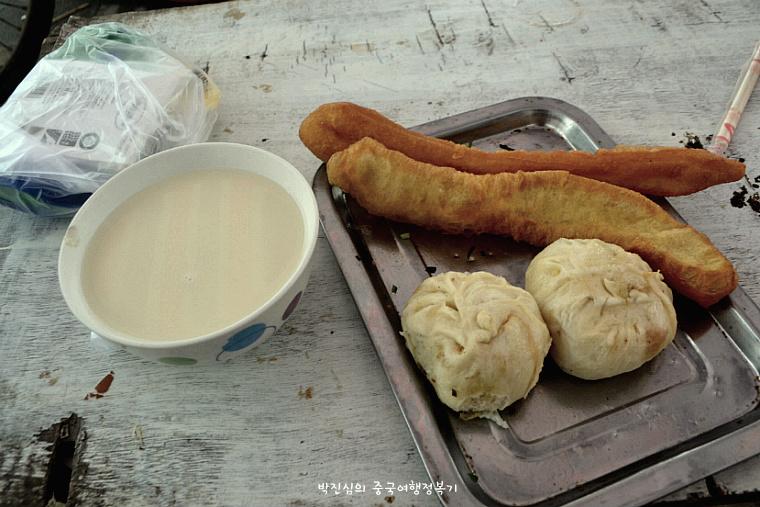 ▲ 중국인의 전형적인 아침식사는대개 이렇다.
