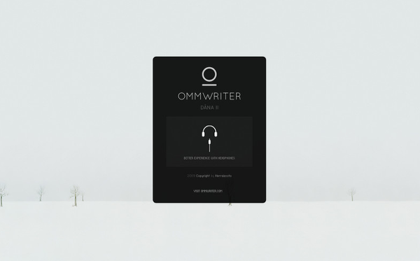 글쓰기에 집중하도록 해주는 옴라이터(OmmWriter)