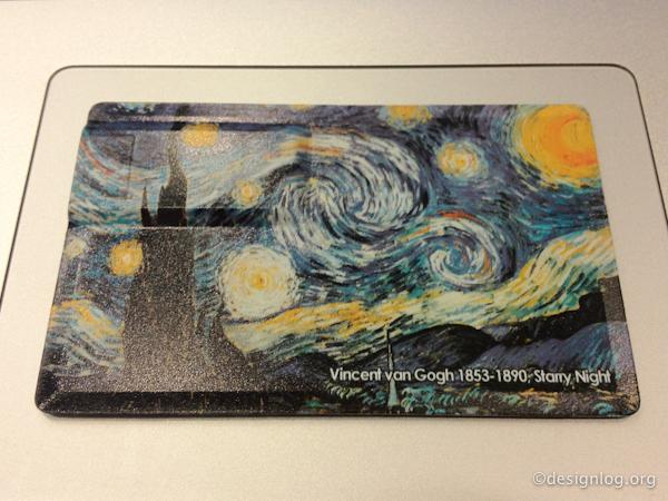 아트뮤 카드형 USB메모리(뒷면)