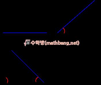 삼각형의 작도 - 한 변의 길이와 양 끝각이 주어였을 때