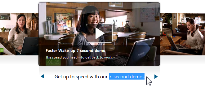 Get up to speed with our 7-second demos