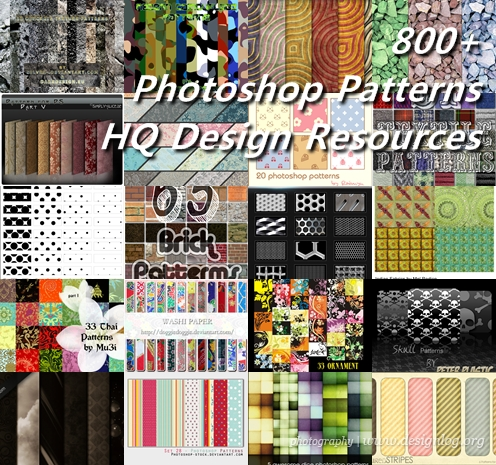800가지 고급 포토샵 패턴 디자인 리소스 무료 다운로드