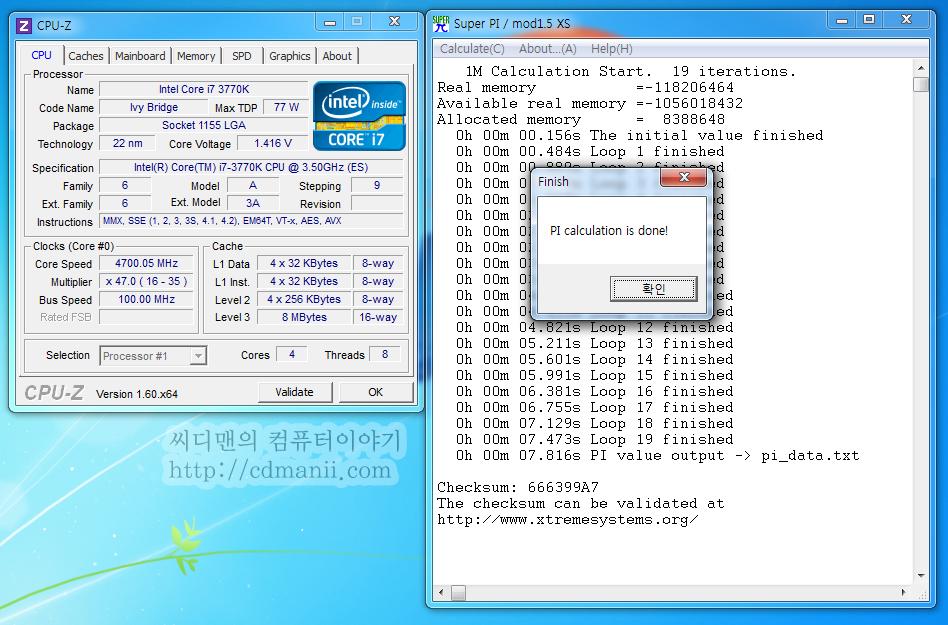 i7-3770K, 오버클러킹, ES, CPU-Z, 공냉, 5.4Ghz, 7Ghz, ASUS SABERTOOTH Z77, A/S, 오버, QC45 ES, 3.5Ghz, i7-2600K, 비교, 벤치마크, 소음, 전압, 효율, 전력측정, i7-3770K 오버클러킹을 해 보았습니다. 물론 공냉으로 시도를 했습니다. 액화질소로 7Ghz 대 까지 성공한 글은 보았습니다. 다만 공냉으로 아이비브릿지 i7-3770K가 어느정도 까지 오버클러킹이 될지 궁금하더군요. 지금 테스트를 더 많이 해봐야하겠지만 5.4Ghz 까지는 찍히더군요. 옵션을 잘 조정하면 좀 더 올라 갈 것 같긴 합니다. CPU 전압을 처음에는 좀 많이 넣어보았는데, 안정화 테스트중에 전압을 반대로 낮춰보니 꽤 괜찮은 전력소모량과 클럭을 찾았습니다. 5Ghz 에서 1.200V CPU 전압에서 사용이 가능하더군요. 물론 공냉입니다. ASUS SABERTOOTH Z77를 이용해서 오버클러킹을 시도했는데 이 보드 꽤 듬직하네요. Fail 이 났을 때도 다시 잘 돌려서 셋팅이 가능하게 해주더군요.