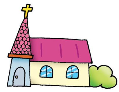 소망의 바다 교회 클립아트