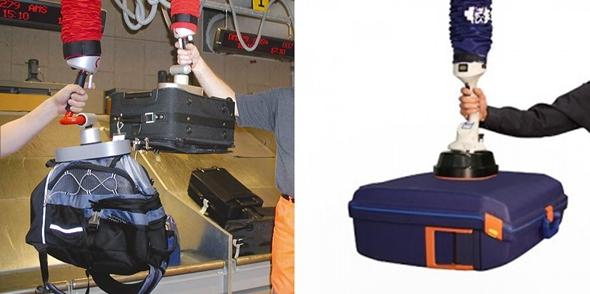 진공 흡착 힘으로 수하물 운반하는 Vacuum Tube Lifter