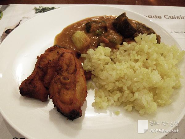탄두리 치킨, 강황밥, 베지 카레 @ sevensprings