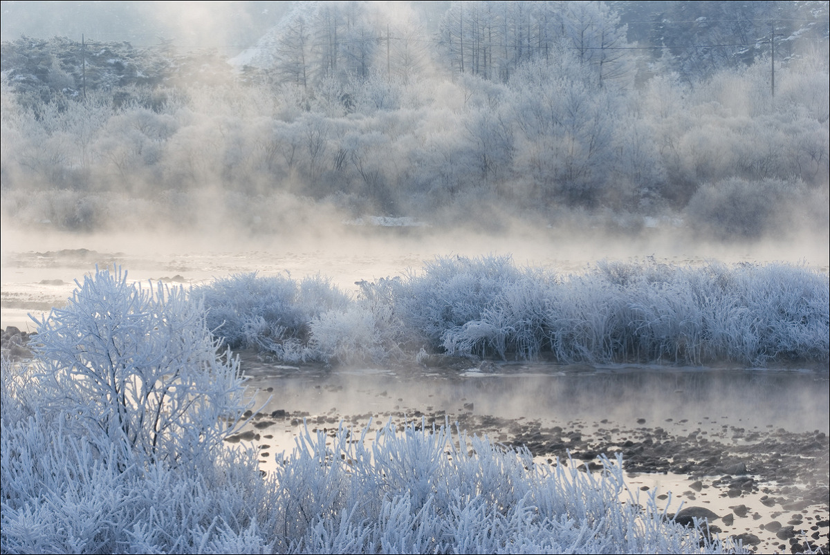 소양강 상고대(2010년 겨울)