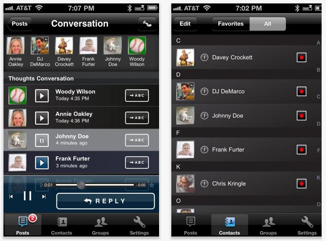 아이폰 무료 음성 서비스 앱 'Jawbone THOUGHTS'