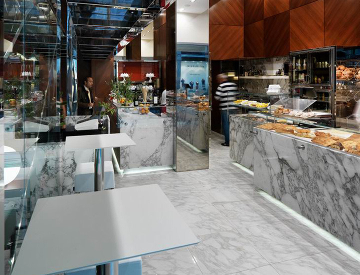 Rossi rossi modern bakery by andrea langhi milan