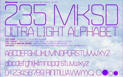 무료폰트, 235MKSD-Ultra