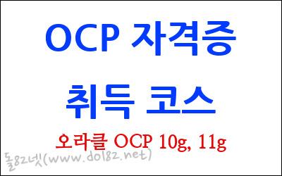 오라클 OCP 자격증 취득 코스