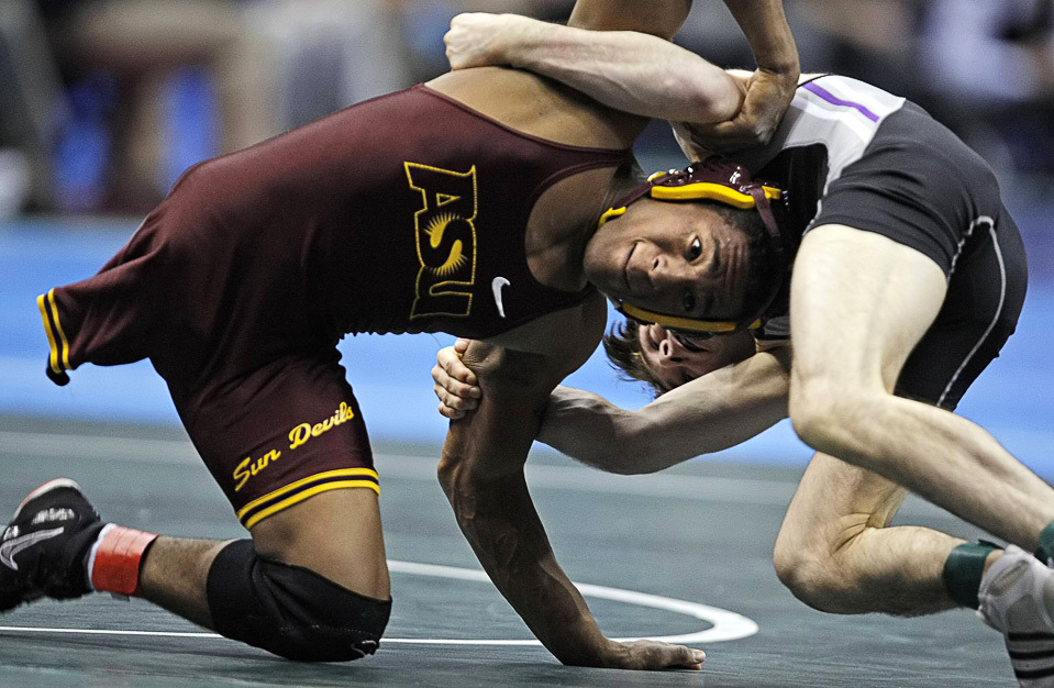 Anthony Robles, a one legged wrestler competing at the collegiate level
