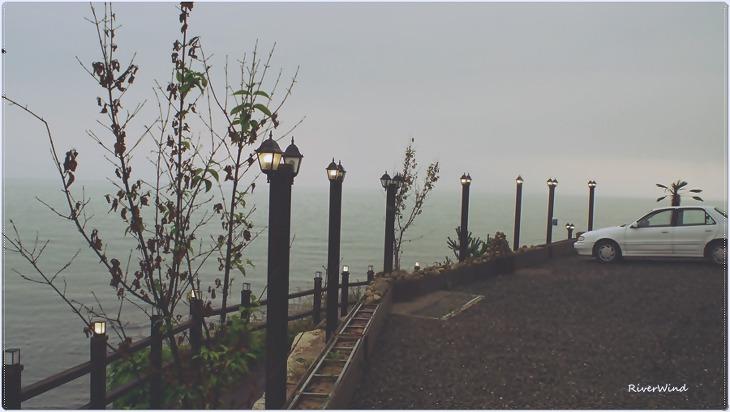 비오는날 운치있는 풍경