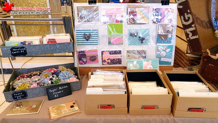 캐나다 오타와 핸드메이드 시장 ; 수제 카드