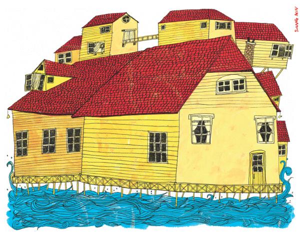 물 위의 집