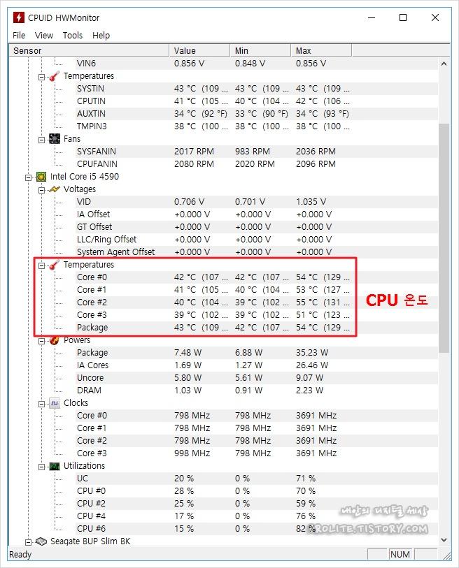 CPU 온도