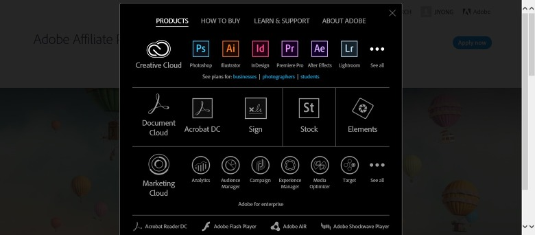 어도비 제휴 프로그램,Adobe Affilate 프로그램,Adobe 광고
