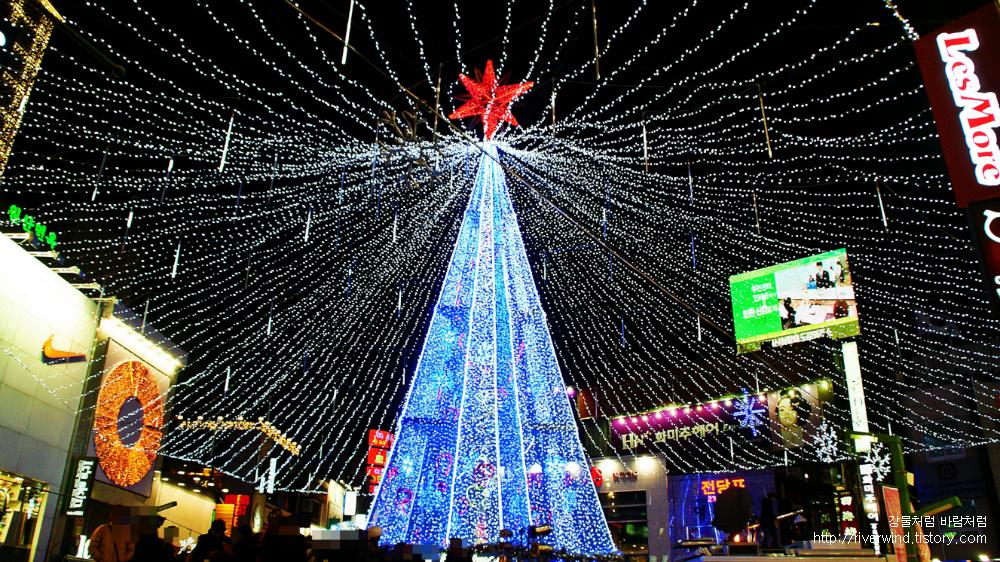 광복동 빛의거리 빛축제 메인 등탑