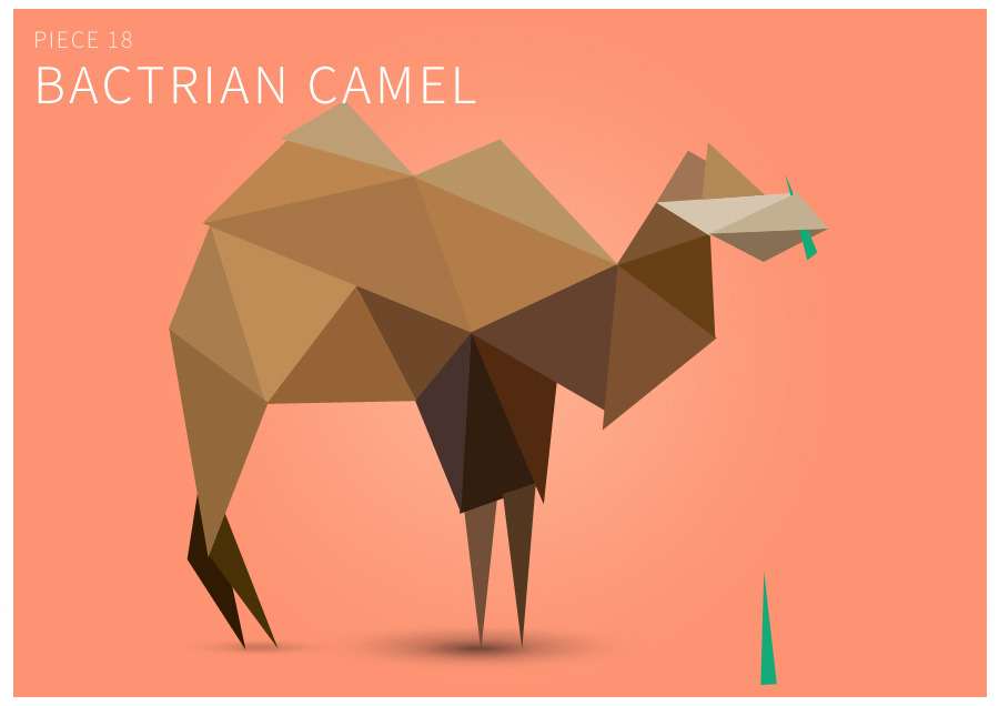 Piece 18 Bactrian camel