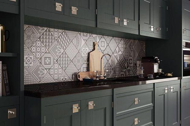 *주방을 위한 패치타일 Patchwork Tile Backsplash Designs for Kitchen