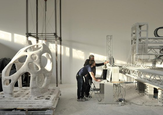 Large scale industrial 3D printing
