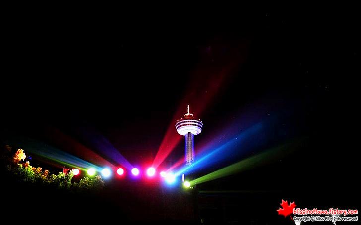 캐나다 동부여행 나아이가라 폭포 야경