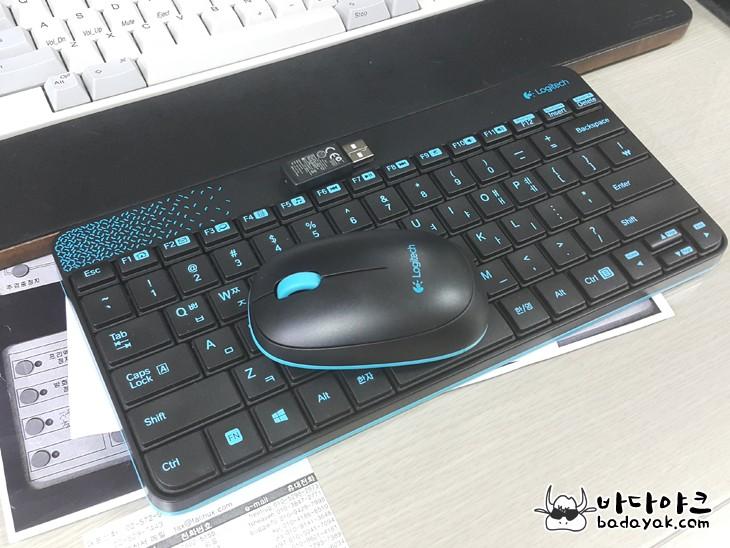 로지텍 usb 무선 키보드 마우스 콤보 mk240