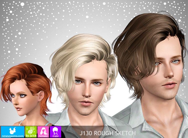 Objnoora Newsea Sims3 Hair J130