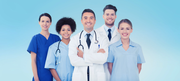 Free Stock Photo JPG file Group of happy doctors at hospital Stock Photo 07
