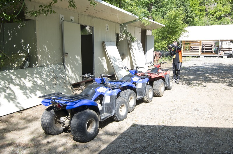 숲길을 지나 강가로 - 평창강가를 달리는 ATV