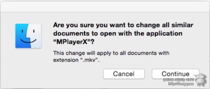 OSX, 맥, 연결프로그램, 바꾸는 방법, 바꾸기, 동영상, 플레이어, 연결, 변경