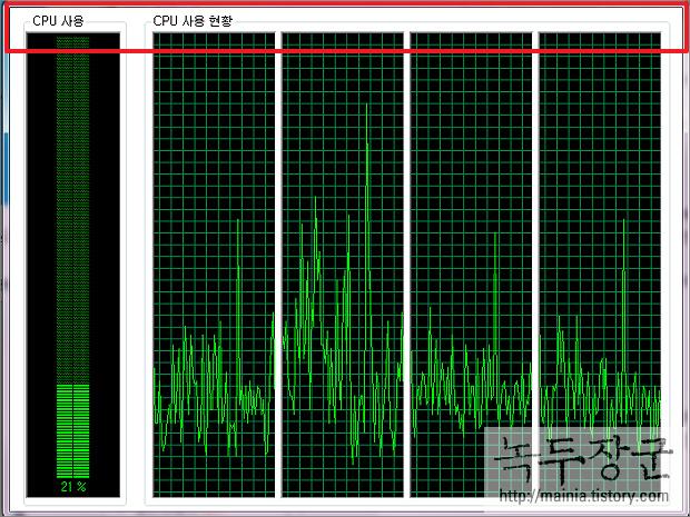 윈도우7 Windows7 작업 관리자 테두리와 메뉴가 사라졌을 때 복구하는 방법