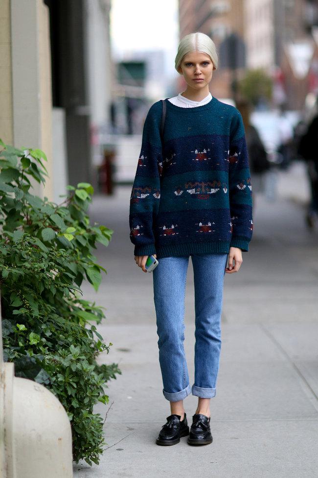 Kết quả hình ảnh cho street style with sweater