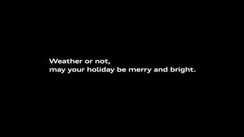 겨울 폭풍과 폭설로 인해 가족 크리스마스 파티를 하지 못하게 된 할아버지의 사연, 아우디(Audi)의 사륜구동 콰트로(Quattro) TV광고 '예보(The Forecast)편' [한글자막]