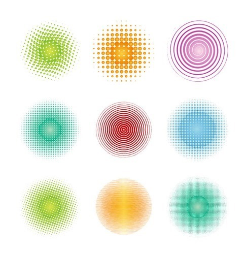 동그라미 원 패턴 이미지 일러스트 그림 소스 ...